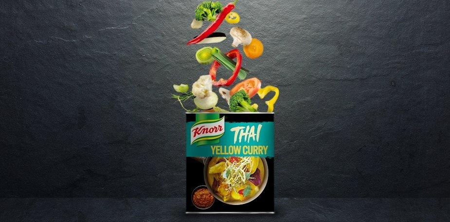 Knorr Πάστα Κίτρινο Κάρυ 850 gr - Αυθεντικές γεύσεις από συνταγές προερχόμενες από την Ταϊλάνδη