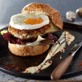 Μοσχαρίσιο Burger με πουρέ πατάτας