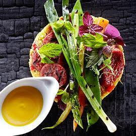 Ψητά λαχανικά με chorizo και κους κους