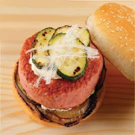 Burger κοτόπουλο με λαχανικά σχάρας