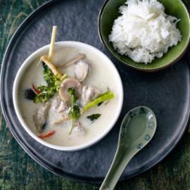 """Tom Kha Kai"""" Thai Κοτόπουλο με Γάλα Καρύδας"""