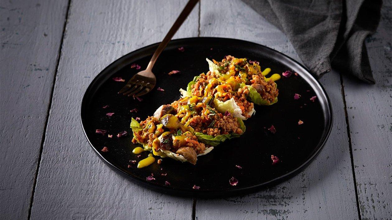 Ασιατικό wrap με κοτόπουλο και βρασμένα κάστανα