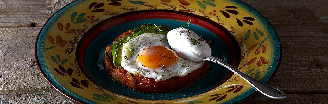 Αυγά τηγανητά σε σάλτσα Jars από το Mexico