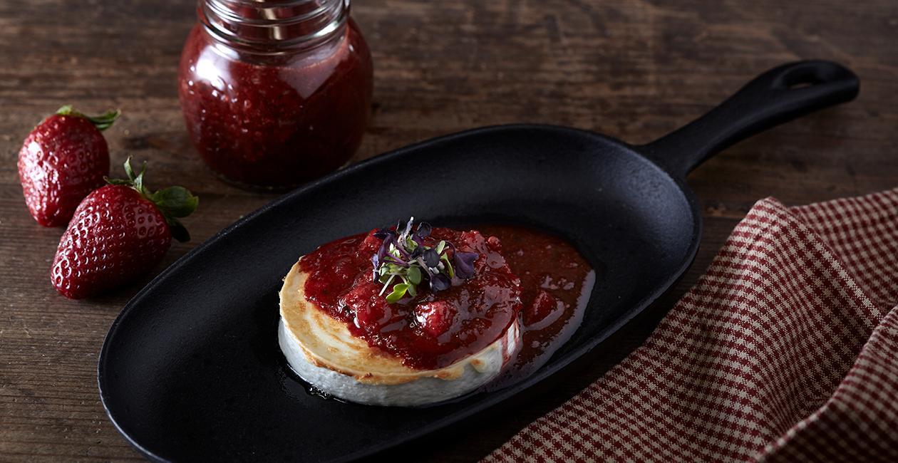 Κατσικίσιο Τυρί Chevre με Chutney Φράουλας