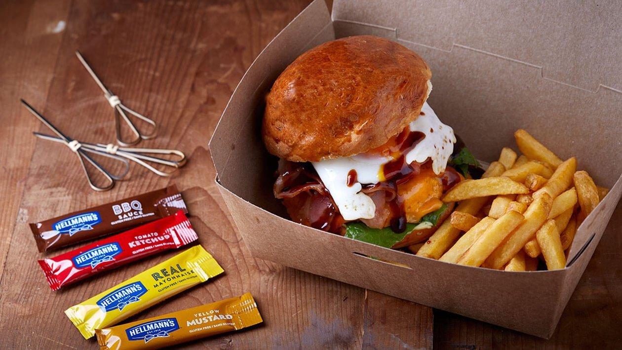 Μοσχαρίσιο Burger με BBQ Sauce