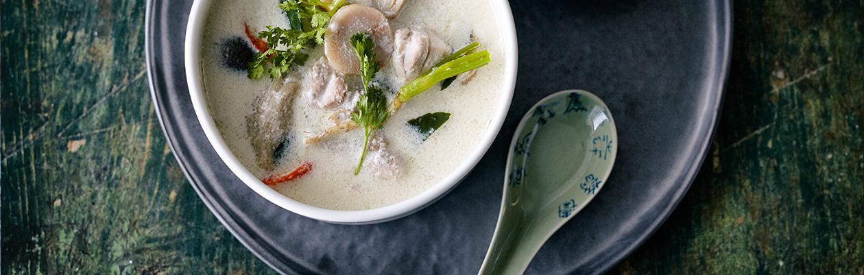 """""""Tom Kha Kai"""" Thai Κοτόπουλο με Γάλα Καρύδας"""