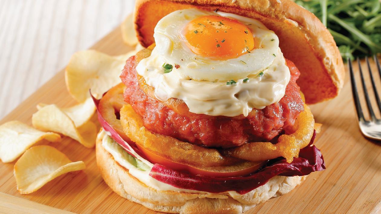 Burger Κοτόπουλου με αυγό