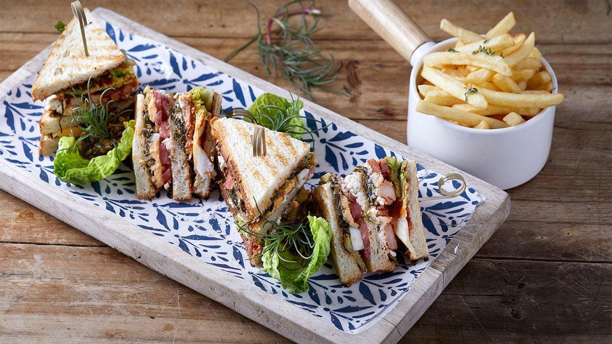 Cretan club sandwich