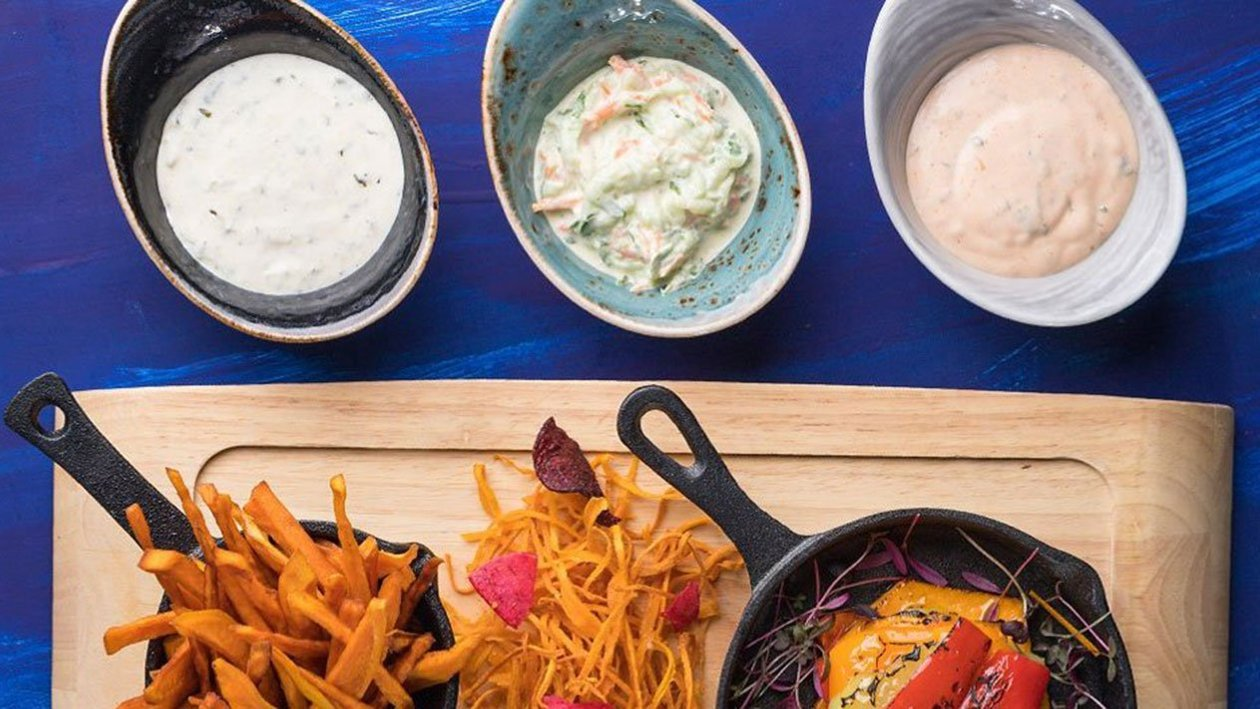 Dip : Vegan Ranch Σως / Vegan Dip αγγουριού / Vegan dip με σπανάκι και αγκινάρες