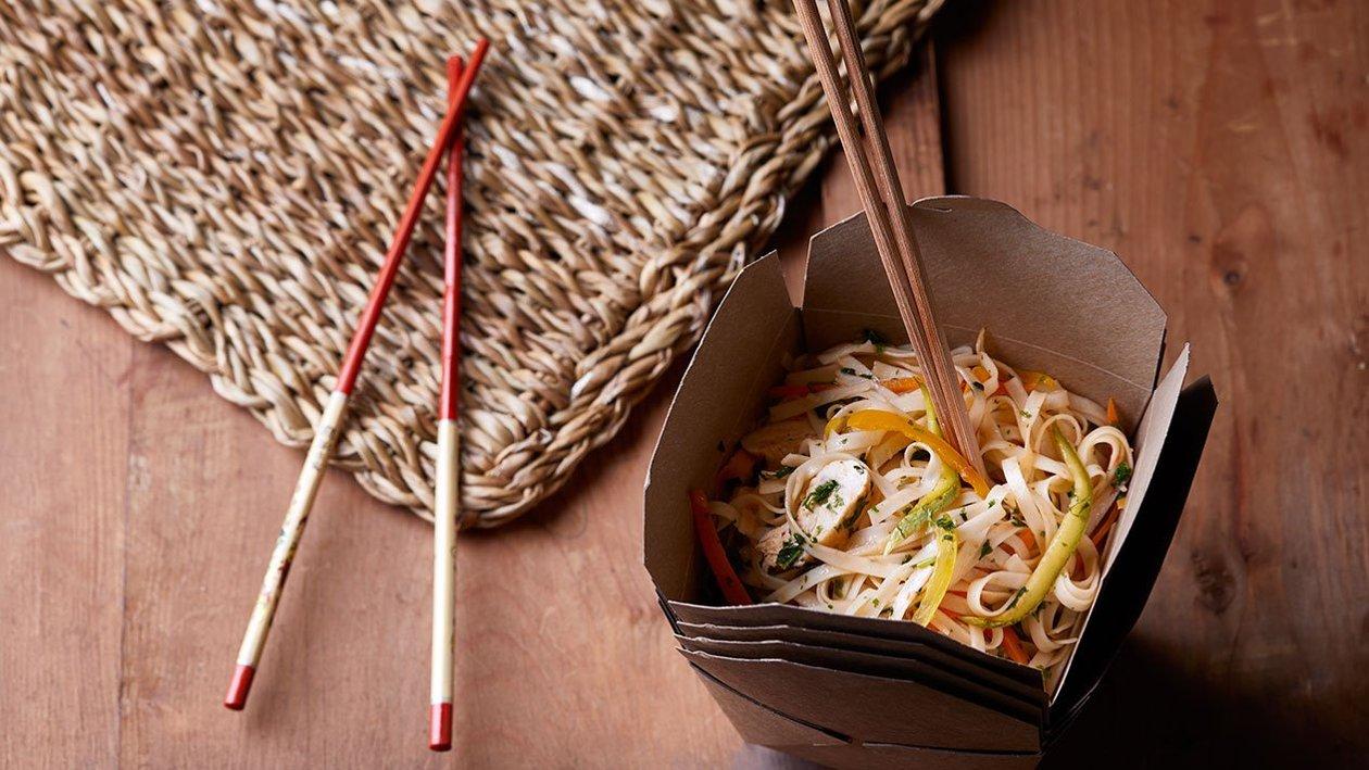 Noodles με Λαχανικά και Κοτόπουλο