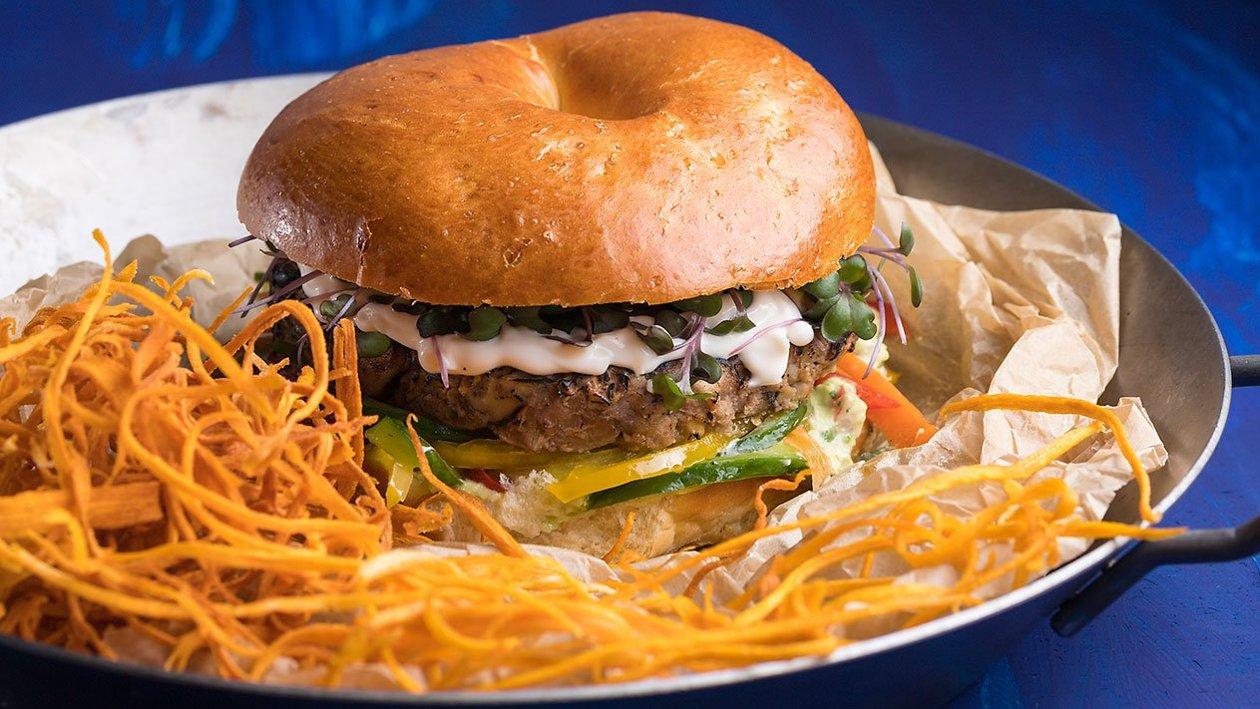 Vegan Burger με μανιτάρια και φασόλια