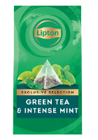 Lipton Green Tea & Intense Mint (6x25 pyramid tea bags)