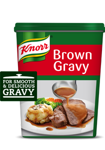 Knorr Brown Gravy Base (6x800g) - With Knorr Brown Gravy Base, a smooth and delicious gravy is guaranteed in a matter of minutes, every time