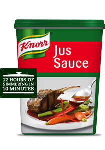 Knorr Jus Sauce Base (3x800g) - With the velvety and intense flavour of Knorr Jus Sauce, all I need is my passion to take  my dish from delicious to divine.