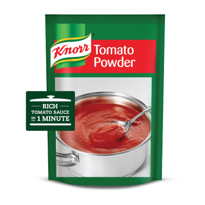 "Knorr Tomato Powder (6x750g) - ""A rich consistent tomato sauce is a key ingredient in my dishes"" – Chef Muhammad, Le Pirate Restaurant"