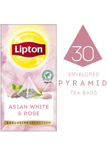 Lipton Asian White & Rose (6x30 pyramid tea bags) - Lipton Exclusive Selection offers your guests a unique tea moment