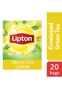 Lipton Green Tea Lemon (16x20x1.6g)  - Green tea from the world's no. 1 tea brand, Lipton, helps in digestion and increases focus