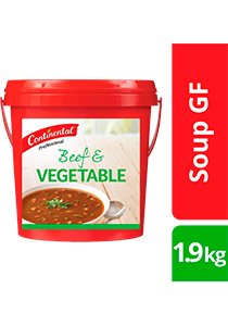 CONTINENTAL Professional Gluten Free Beef & Vegetable Soup Mix 1.9kg
