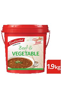 CONTINENTAL Professional Gluten Free Beef & Vegetable Soup Mix 1.9kg -