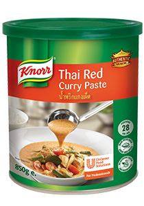 Receive a FREE Sample of KNORR Thai Red Curry Paste