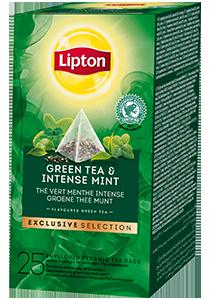 LIPTON Pyramid Green Tea and Intense Mint