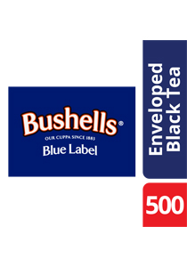 BUSHELLS Envelope Tea Cup Bags 500's - BUSHELLS' full flavour has been enjoyed by Australians for generations.