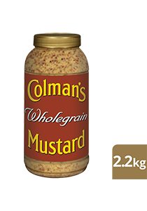 COLMAN'S Wholegrain Mustard 2.2 kg/2.25 L jar - Add excitement and traditional flavour with COLMAN'S quality mustards.
