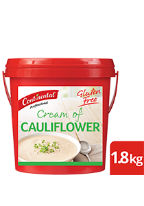 CONTINENTAL Professional Gluten Free Cream of Cauliflower Soup Mix 1.8kg - This CONTINENTAL Professional gluten-free soup mix is quick & easy to use, has no added MSG and delivers an authentic homestyle taste.