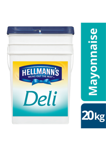 HELLMANN'S Deli Mayonnaise 20kg - New HELLMANN'S Deli Mayo delivers sweet, tangy and Deliciously affordable sandwiches.