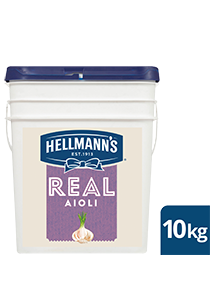 HELLMANN'S Real Aioli 10 kg - HELLMANN'S Real Aioli delivers consistent flavour with an infusion of garlic.