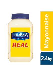 HELLMANN'S Real Mayonnaise 2.4 kg - The thick and creamy texture of HELLMANN'S Real holds up and won't split under pressure.