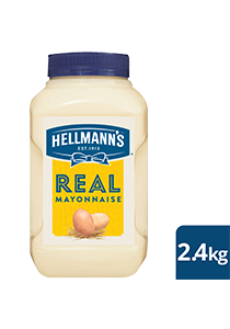 HELLMANN'S Real Mayonnaise 2.4 kg - Made to an authentic egg yolk recipe for a scratch - made taste, that's also Gluten Free.