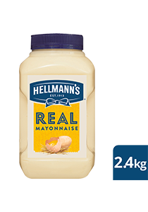 HELLMANN'S Real Mayonnaise 2.4 kg - HELLMANN'S Real uses traditional ingredients for a scratch-made taste. It's made with 100% free-range egg yolks, vegetable oil, lemon juice and vinegar.
