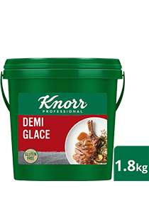 KNORR Demi Glace Gluten Free 1.8kg - With distinct notes of Australian roasted beef & red wine, this decadent, gluten-free Demi Glace sauce is set to impress with your signature touch.