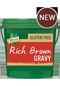 KNORR Gluten Free Rich Brown Gravy 2kg - KNORR Rich Brown Gravy is now gluten free, with a classic, meaty gravy taste.
