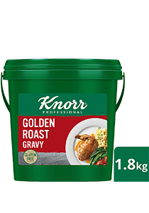 KNORR Golden Roast Gravy Gluten Free 1.8kg - Light, gluten-free and vegetarian, Knorr Golden Roast Gravy is ideal for modern palates and great with white meats and plant-based dishes.