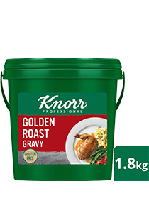 KNORR Golden Roast Gravy Gluten Free 1.8kg - KNORR Golden Roast Gravy is ideal for modern palates. This gluten-free and vegetarian gravy pairs perfectly with white meats and plant-based dishes.