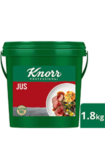 KNORR Jus Gluten Free 1.8kg - Gluten-free with caramelised notes from quality Australian beef, Knorr Jus is the perfect companion for your premium dishes.