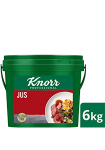 KNORR Jus Gluten Free 6kg - KNORR Jus Gluten Free with its caramelised notes from quality Australian beef is the perfect companion for your premium dishes.