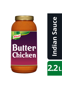 KNORR Patak's Butter Chicken Sauce 2.2 L - KNORR Patak's Butter Chicken Sauce offers a mild, delicious curry residents will love.
