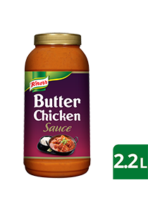 KNORR Patak's Butter Chicken Sauce 2.2 L - KNORR Patak's Butter Chicken Sauce offers a mild, delicious curry that residents will love.
