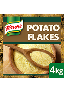 KNORR Potato Flakes GF 4kg - Made with 99% potatoes - sustainably sourced, the premium flake format of Knorr Potato Flakes delivers greater versatility.