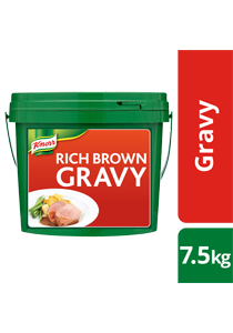 KNORR Rich Brown Gravy 7.5 kg - KNORR Rich Brown Gravy is made with real Australian beef for an authentic meaty taste.