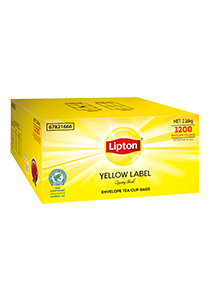 LIPTON Yellow Label Quality Black Envelope Cup Bags 1200s - LIPTON will keep your residents happy every tea time.