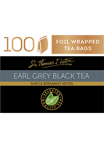 SIR THOMAS LIPTON  Earl Grey 100's - Individually sealed for a premium and fresher tea.