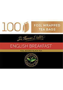 SIR THOMAS LIPTON English Breakfast 100's - Individually sealed for a premium and fresher tea.