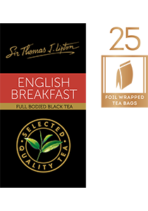 SIR THOMAS LIPTON English Breakfast 25's - Individually sealed for a premium and fresher tea.