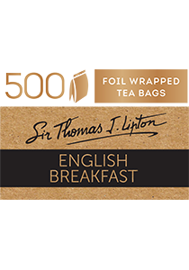 SIR THOMAS LIPTON  English Breakfast 500's - Individually sealed for a premium and fresher tea.