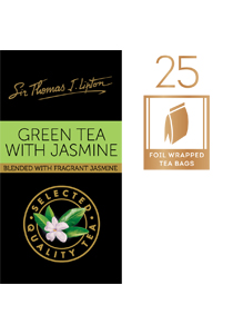 SIR THOMAS LIPTON Jasmine Green Envelope Tea 25's - Individually sealed for a premium and fresher tea.
