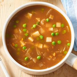 Beef, Vegetable and Parmesan Soup